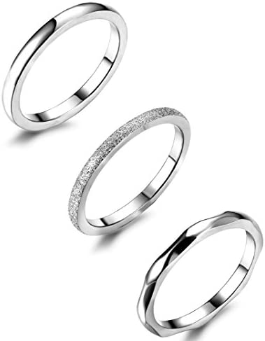 JOERICA Stainless Stackable Eternity Engagement product image