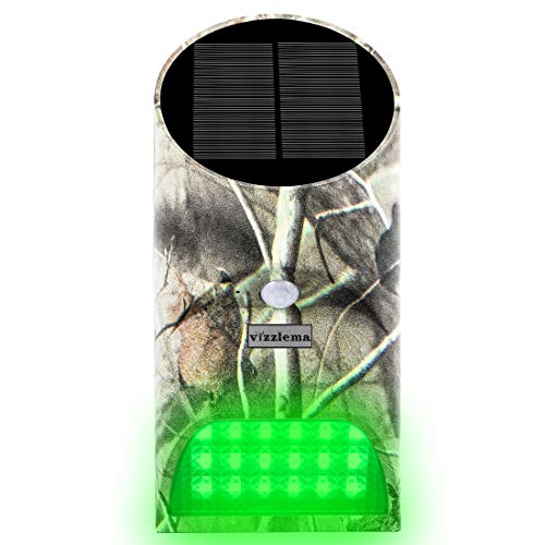 Vizzlema Feeder Hog Light Outdoor Solar Feeder Light for Hunting with Motion Sensor and Green Light for Game Animal Hunting