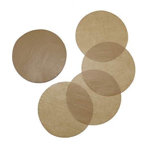 Baking Parchment Circles, Set of 100, 7 Inch Unbleached Baking Paper/Non Stick Baking Parchment/Greaseproof Paper Circles for Springform Cake Tin, Toaster Oven, Tortilla Press and so on