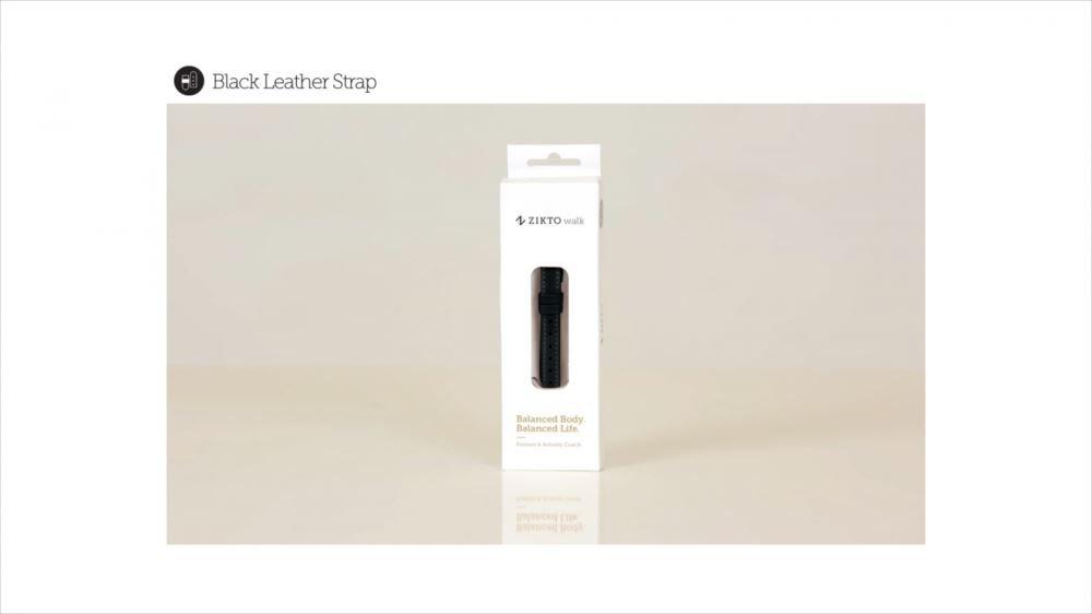 MU Sports Zikto Walk Leather Strap Black Large (List Size: 17-20.5 cm) Golf Wear/Women's Vest/Women's Complete Sets/Golf-Club-Complete-Sets by MU Sports (Image #3)