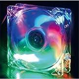 Evercool 92mm x 25mm 4 Color LED Case Fan Red Green Blue Orange