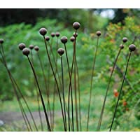 "Kinetic Metal Garden Art Sculpture - FREE SHIPPING-Grouping of 7-1""balls-Ball Weeds- Decorative Sculptures Home Décor Garden Décor Yard Art Uncoated Steel"