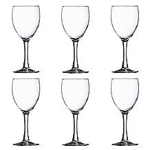 6 Arcoroc Pro Excalibur Tall Wine Glasses 8.5oz 71084 Bar Set Lot Red White