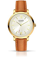 Emelia Monier W Palace Gold Tone Womens Watch with Brown Leather Strap EML001-02BR