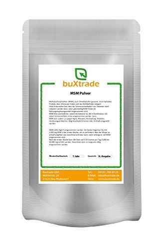1 kg MSM Pulver Methylsulfonylmethan Dimethylsufon, lindert und hilft Schmerzen