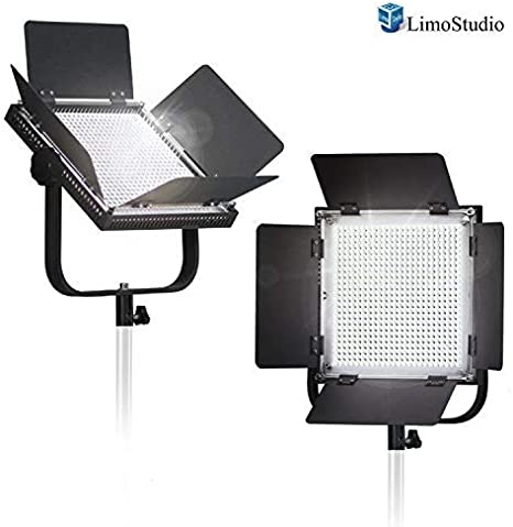 50% Moving 2-Pack LED 600 Photographic Lighting Panel con Pantalla Digital, Photo Studio Barndoor Light, Continuous Video Light, Brillo Control Disponible, AGG2382: Amazon.es: Electrónica