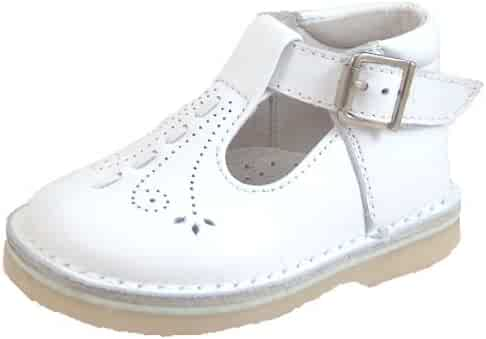 De Osu 1166 - Girls  European White Leather Dress Walking Shoes (Toddler) 48562ae39a3