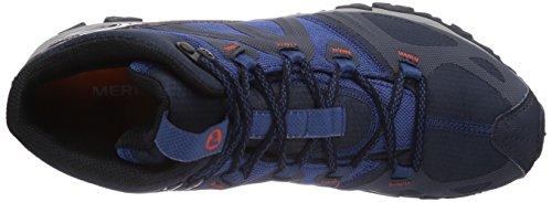 Merrell Grassbow Mid Sport Gore-Tex - High Rise Hiking de sintético hombre Azul (Navy/Tahoe Blue)
