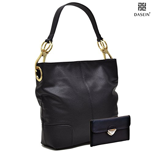 Classic Everyday Hobo (Dasein Women's Classic Faux Leather Hobo Purse Shoulder Bag Tote Handbag)