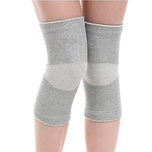 - 1 Pair(2 Pcs) Gray Unisex Ultra-thin Bamboo Charcoal Fiber Sports Knee Sleeve Leg Support Brace Pads Kneecap For Sports Outdoors Running Golf Cycling Volleyball Basketball Dance Climbing Yoga(S)