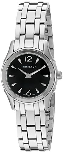 Hamilton Women's 'Jazzmaster' Swiss Quartz Stainless Steel Automatic Watch, Color:Silver-Toned (Model: H32261137)