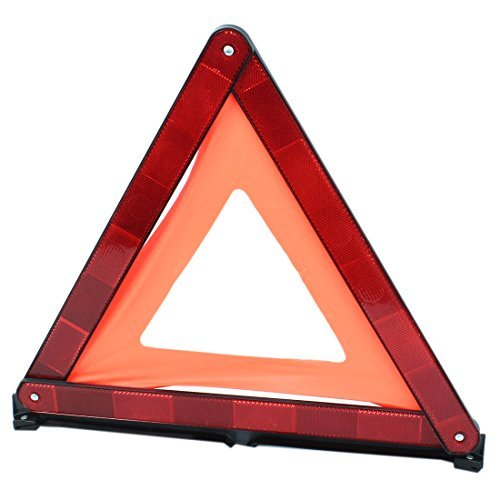 - DealMux Roadway Reflection Warning Emergency Triangle Traffic Safety Sign