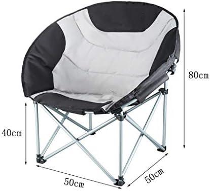 Chaise Longues Chaises De Camping De Luxe Portable Rembourré Moon Chair Heavy Duty Pliant Festival Plage Siège De Pêche