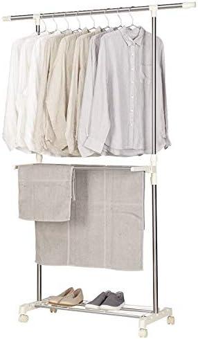 Special hangers Multifuncional Tendedero, granalla de Acero Inoxidable Solo Piso Tendedero Dormitorio Estante guardarropa almacenaje de la Ropa