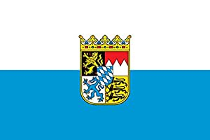 magFlags XXS Flag Bavaria | Landscape Flag | 0.24m² | 2.5sqft | 40x60cm | 1.3x2foot - 100% Made in Germany - Long Lasting Outdoor Flag