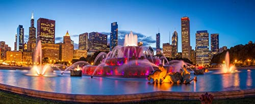 Buckingham Fountain in Chicago, Illinois Photography A-90307 (16x24 SIGNED Print Master Giclee Print w/Certificate of Authenticity - Wall Decor Travel Poster) (In Photography Illinois)