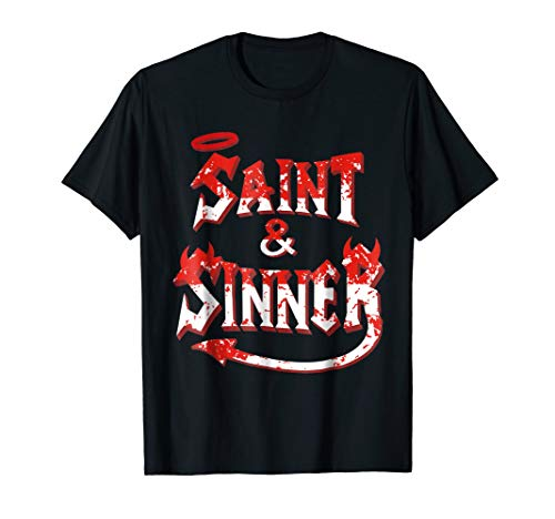 Halloween Couples Costume Shirt Funny Couple Saint &