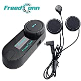 Motorcycle Helmet Bluetooth Intercom Kit, FreedConn TCOM-SC Motorbike Helmet Intercom Interphone Headset, for 2 or 3 riders, LCD Screen/FM Radio/Mobile phone/MP3/GPS connective/Range 800m(1 Pack)