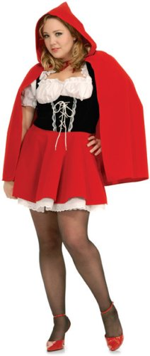 Women's Red Riding Hood Adult Plus Costume (Plus 14-16)