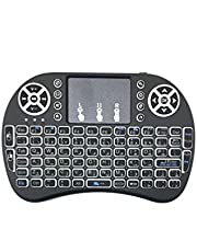 Backlit Mini Wireless Keyboard Arabic English USB 2.4 G backlight with Touchpad Built in Lithium battery 92 keys QWERTY multi finger for Android TV Box, tablet and computer