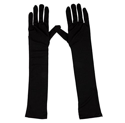 Loftus International Adult Ladies Evening Gloves Elbow Length Costume Gloves Black