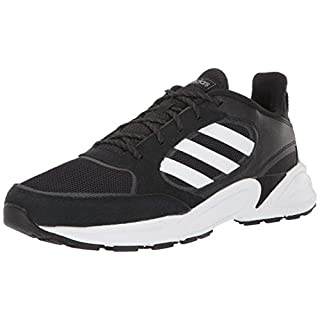 adidas Men's 90s Valasion Sneaker, Black/White/Grey, 9.5 M US