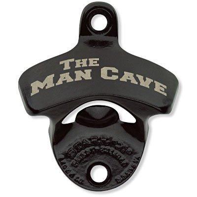 The Man Cave, on Black, Bottle Opener