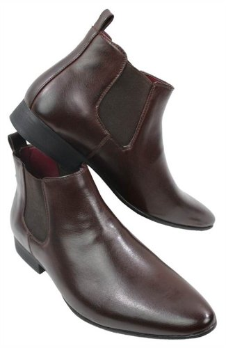 Chesea Boots Black Leather Italian Dealer Ankle Smart Brown Laced Mens qATxZq