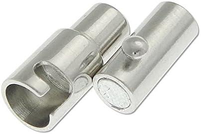 Perlin Schmuckherstellung M267 x3 9Stk Bajonettverschluss Magnetverschluss Kettenverschlu/ß f/ür 3mm B/änder Schmuckverschluss Schmuckzubeh/ör