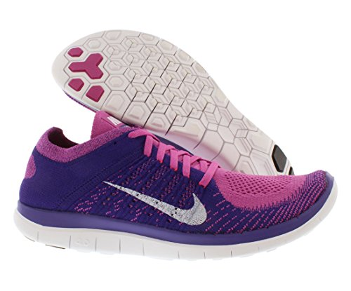 Nike Free 4.0 Flyknit - Zapatillas para hombre CLB PNK/WHITE-CRT PRPL-BRGHT C