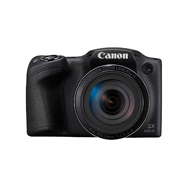 RetinaPix Canon PowerShot SX430 IS 20MP Digital Camera with 45x Optical Zoom (Black)