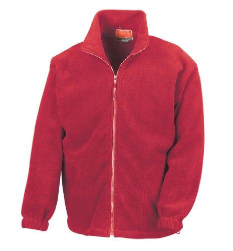 Active Fleece Jacke mit durchgehendem Reißverschluss M,Red