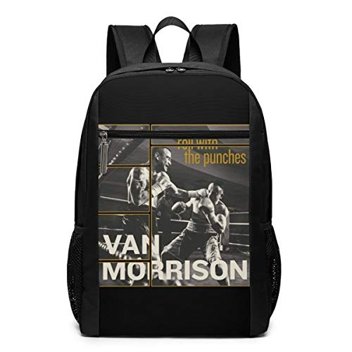 Van Morrison Roll with The Punches Lightweight School Backpack College Book Bags Travel Rucksack Fit 15-17 Inch Laptop