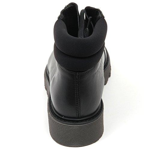 C3592 Scarpa Cuoieria Woman Scarponcino Boot Donna Antica Nero Shoe 57CIwq