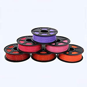 Tonglingusl 6 pcs 3d filament abs filament 1.75 multi-colors 1kg plastic spools filament 1.75 3d printer filament impressora