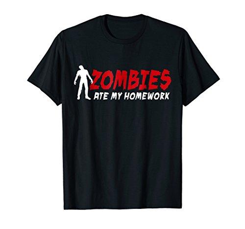 Zombies ate my homework back to school kid kids T-Shirt