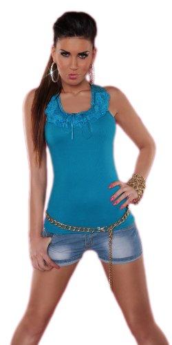 Enroria - Camiseta sin mangas - Básico - Sin mangas - para mujer turquesa