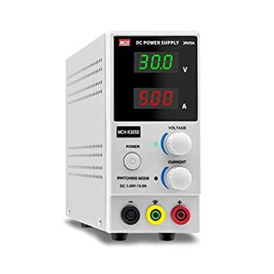XIAOF-FEN High Precision MCH-K305D Adjustable DC Power Supply 30V 5A Electronic Repair DC Experimental Power Supply Aging Test Home Improvement Electrical