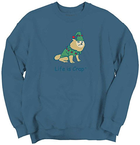 [Life Is Crap Dog Costume Good Life Funny Shirts Gift Ideas Sweatshirt] (Hilarious Costumes Ideas)