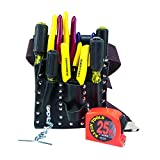 Klein Tools 5300 Electrician Tool Kit With an Array of Klein Tools, Comes in 7-Pocket Leather Tool Pouch, 12-Piece