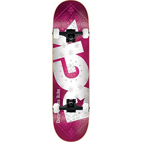Bandana Skateboard Truck (DGK Skateboard Complete Bandana Foil Red 8.25