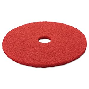 "3M Red Buffer Pad 5100, 20"" Floor Buffer, Machine Use (Case of 5)"