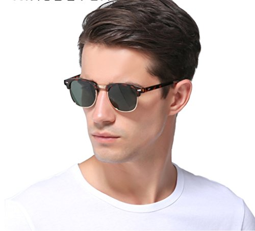 color de mujeres y económicas polarizadas polarizadas excelente estilo unisex Marron de de cristal metálico marco calidad para gafas Ray retro espejo moda de sol sol Ban hombres Gafas clásicas wSxnOqA46F