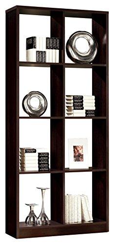 Estanteria - libreria para despacho salon comedor u oficina 8 huecos ...