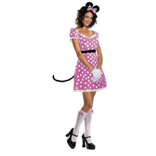 Sassy Pink Minnie Mouse Adult Costume -