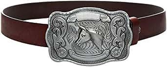 Maroon Leather Belt For Men
