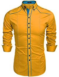 Amazon.com: Yellows - Casual Button-Down Shirts / Shirts: Clothing ...