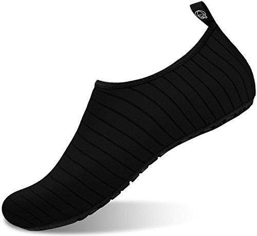 Aiken Adult Aqua Socks Outdoor Sports Water Shoes for Women Men Black XL(W:11-12,M:9.5-10)