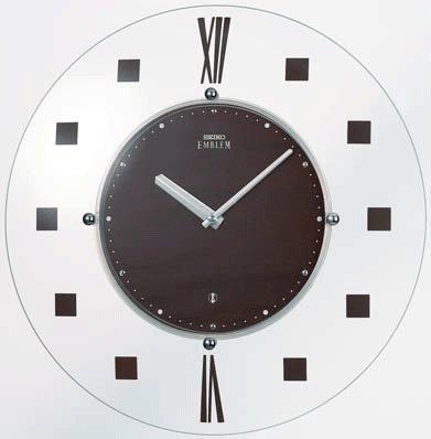 SEIKO CLOCK EMBLEM(セイコークロックエンブレム) 電波掛け時計 薄さ26ミリ HS529B 【のし、包装承ります】】 B00FWAW26I