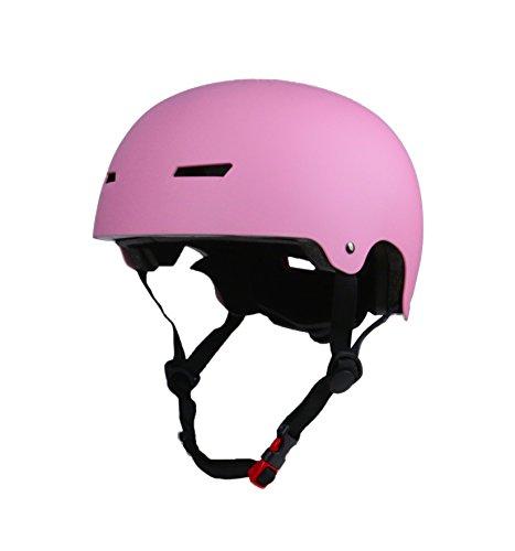 Tourdarson Skateboard Helmet Certified Impact Resistance Ventilation Protection for Multi-Sports Cycling Skateboarding Scooter Roller Skate Inline Skating Rollerblading Longboard (Pink, OneSize)